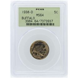 1938-D PCGS MS64 Buffalo Nickel