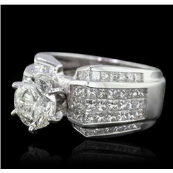 18KT White Gold 4.35ctw Diamond Ring