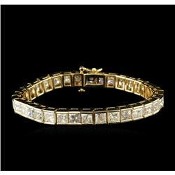 14KT Yellow Gold 25.71ctw Diamond Tennis Bracelet