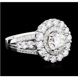 14KT White Gold EGL Certified 3.65ctw Diamond Ring