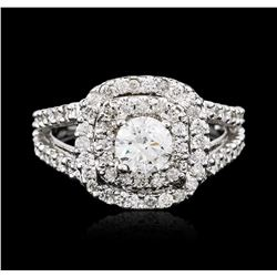 14KT White Gold 1.11ctw Diamond Ring