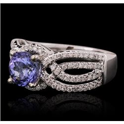14KT White Gold 1.50ct Tanzanite and Diamond Ring