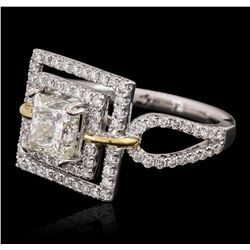 18KT Two-Tone Gold 2.09ctw Diamond Ring