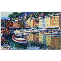 Portofino Harbor by Behrens (1933-2014)
