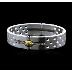Sauro Stainless Steel Bangle Bracelet