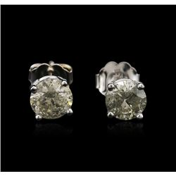 14KT White Gold 1.36ctw Diamond Stud Earrings