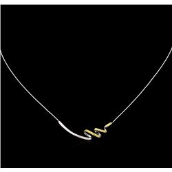 0.27ctw Fancy Yellow Diamond Necklace - 14KT