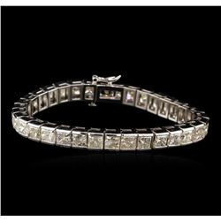 14KT White Gold 26.22ctw Diamond Tennis Bracelet