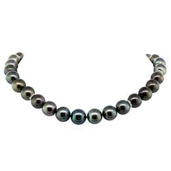 Tahitian Cultured Pearl and Diamond Necklace