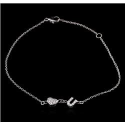 0.14ctw Diamond Bracelet - 14KT White Gold