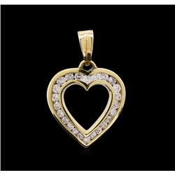 1.00ct Diamond Heart Pendant - 14KT Yellow Gold