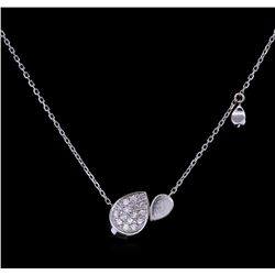 0.35ctw Diamond Pendant With Chain - 14KT White Gold