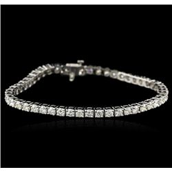 14KT White Gold 5.73ctw Diamond Tennis Bracelet