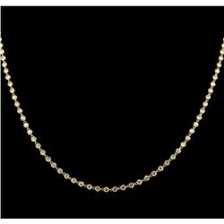 8.01ctw Diamond Necklace - 18KT Yellow Gold