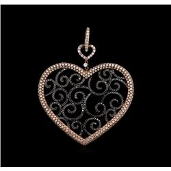 2.61ctw Black Diamond Pendant - 18KT White Gold