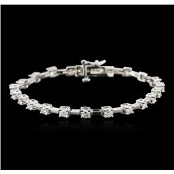14KT White Gold 2.17ctw Diamond Bracelet