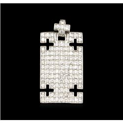 4.02ctw Diamond Pendant - 18KT White Gold