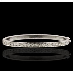 14KT White God 1.31ctw Diamond Bracelet
