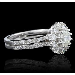 14KT White Gold 2.76ctw Diamond Ring