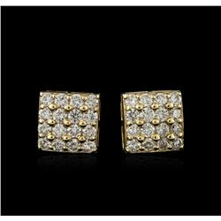 14KT Yellow Gold 1.46ctw Diamond Earrings