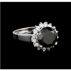 4.95ctw Black Diamond Ring - 14KT White Gold