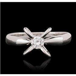 18KT White Gold 0.25ct Round Cut Diamond Ring