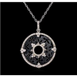 0.82ctw Diamond Pendant With Chain - 14KT White Gold
