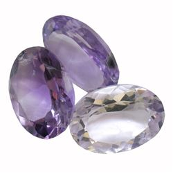 30.86ctw Oval Mixed Amethyst Parcel
