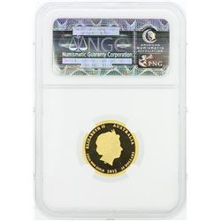 2012P NGC PF70 Ultra Cameo Australia G$25 Year of the Dragon 1/4 oz Gold