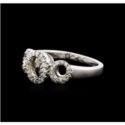 18KT White Gold 0.25ctw Diamond Ring