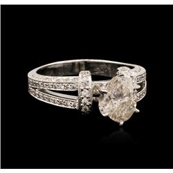 14KT White Gold 1.64ctw Diamond Ring