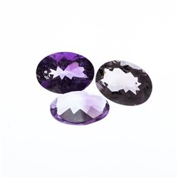 29.94ctw. Oval Amethyst Parcel