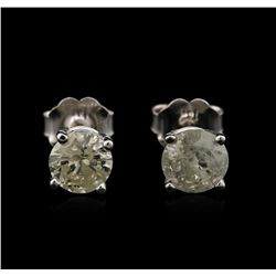 14KT White Gold 1.16ctw Diamond Stud Earrings