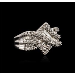 10KT White Gold 0.70ctw Diamond Ring