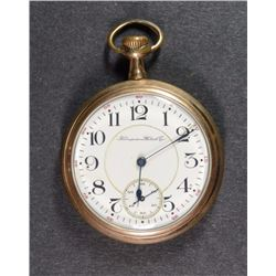 1905 HAMPDEN Wm McKINLEY POCKET WATCH - OPEN FACE - RUNS