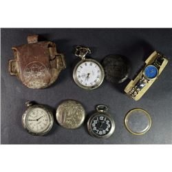 WATCH LOT - COLEMAN, MILAN, DUEVILL w/ BROKEN CASE - HOLLYWOOD RIDING CLUB WRIST