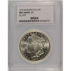 1878-CC MORGAN DOLLAR PCC CHOICE BU
