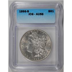 1898-S MORGAN DOLLAR ICG AU-58