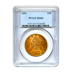 1882 $10 Liberty Gold Eagle PCGS MS61