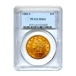 1888-S $10 Liberty Gold Eagle PCGS MS61