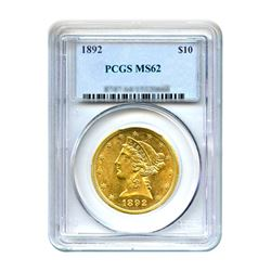 1892 $10 Liberty Gold Eagle PCGS MS62