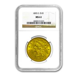 1893-S $10 Liberty Gold Eagle NGC MS61