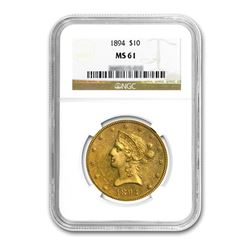 1894 $10 Liberty Gold Eagle NGC MS61