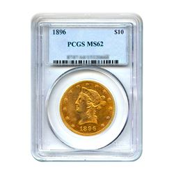 1896 $10 Liberty Gold Eagle PCGS MS62