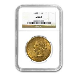 1897 $10 Liberty Gold Eagle NGC MS61