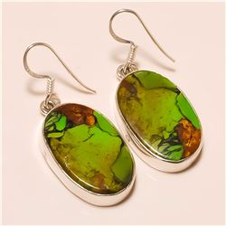 copper turquoise Earring Solid Sterling Silver