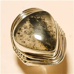 Black Rutile RING Solid Sterling Silver