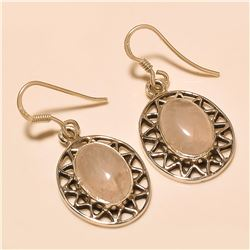 Rose Quartz Earring Solid Sterling Silver