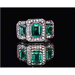 Emerald 2.13ctw w/ Diamond Ring