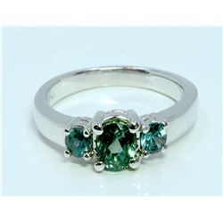 Alexandrite 1.30 ct Ring, 4.01 gram 14K White Gold